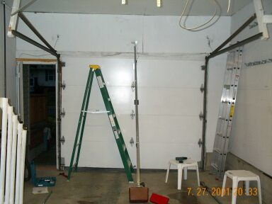 garage door opens halfwayNew garage door opener installation